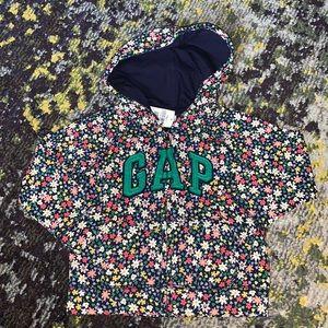 NWT Gap classic original floral printed hoodie sweatshirt sz 2 years